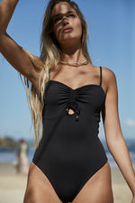 Waikiki One Piece - Black Rib Econyl