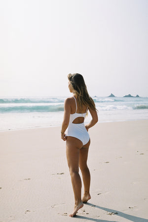Endless Summer One Piece - White Rib