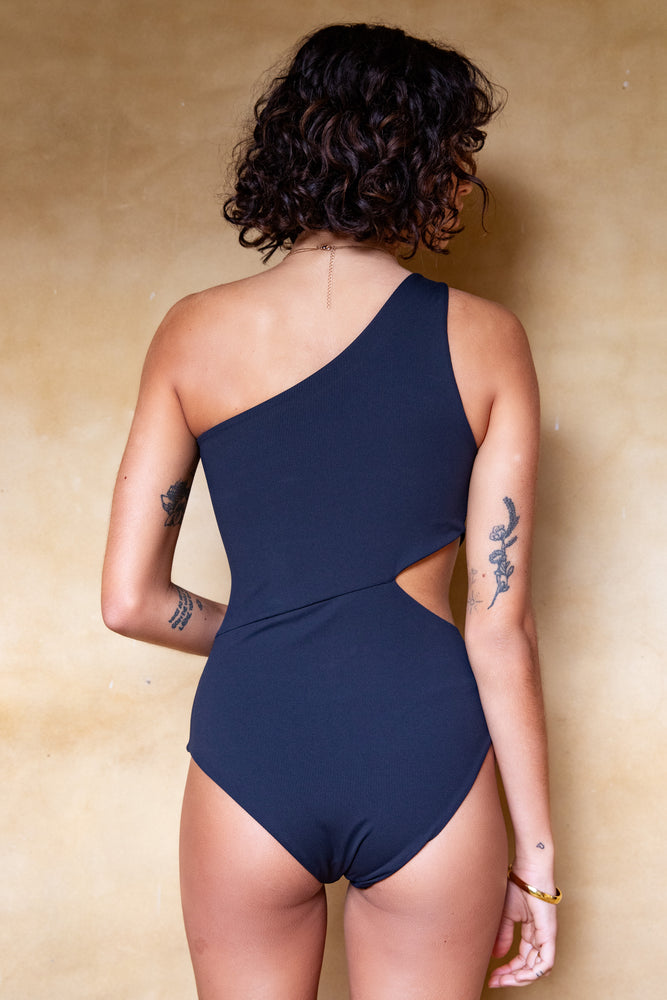 Palma One Piece - Black Rib
