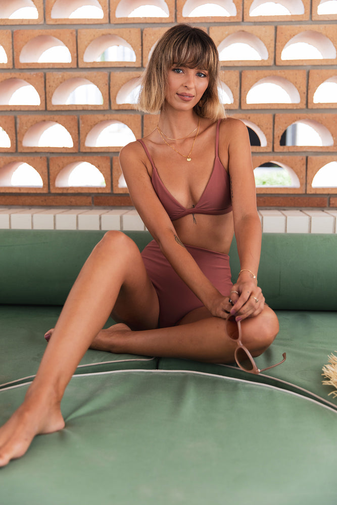 Summer Fling Fixed Tri Top - Dusty Rose