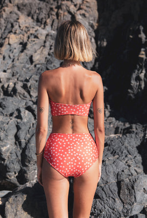 Summer Fling - High Waist Bottom - Red Daisy