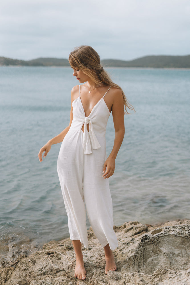 Day Dreamers Tie Front Jumpsuit