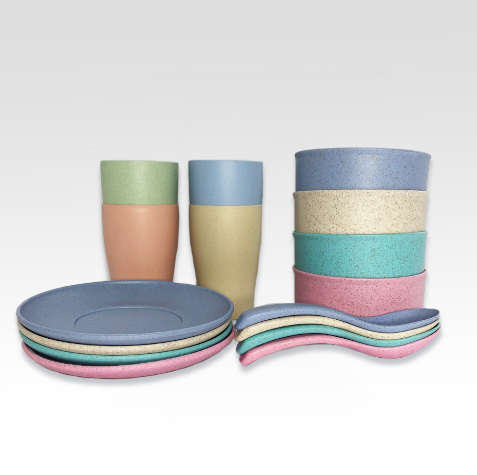 Wheat Straw Tableware for Kids