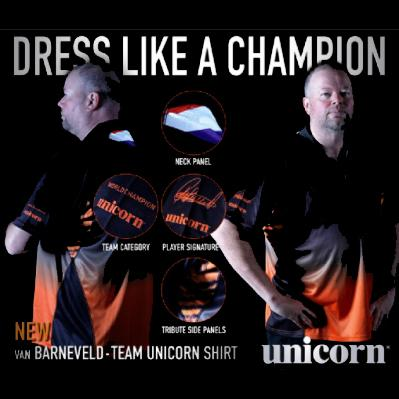 20 x Unicorn Raymond Van Barneveld Darts Official Player Jerseys / Shirts