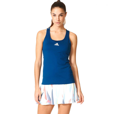 17 x adidas Womens Pro Tennis Tank Tops - Steel Blue & White