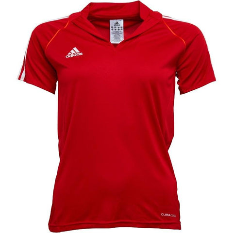 24 x adidas Womens T12 Climacool Team Polo Shirts University Red