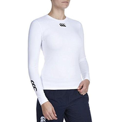 33 x Canterbury Womens Cold Long Sleeve Baselayer Tops  - White