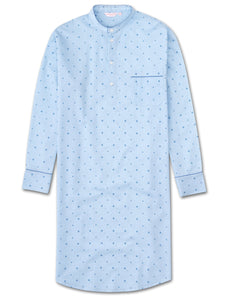 Men's pullover Nightshirt arlo 8 cotton batiste blue, Derek Rose