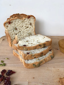 Pumpkin Seed Cranberry Sandwich Bread