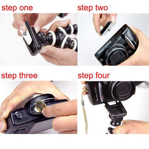 Flexible Adjustable Lightweight Octopus Camera Holder and Phone Tripod