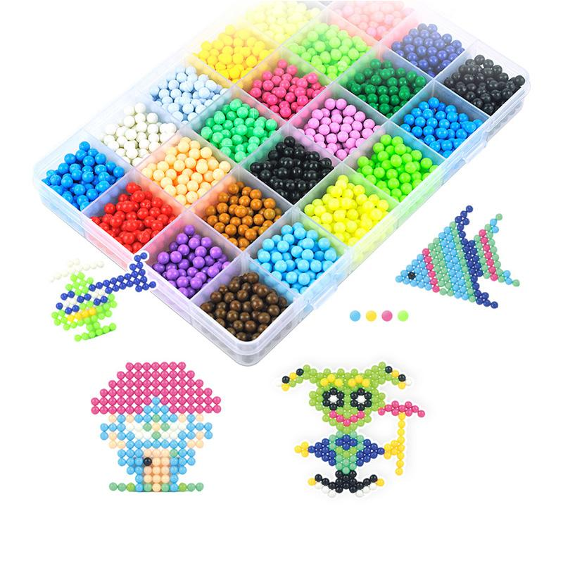 3000 Beads DIY Magic Refilled Water Spray Sticky Beads for Kids