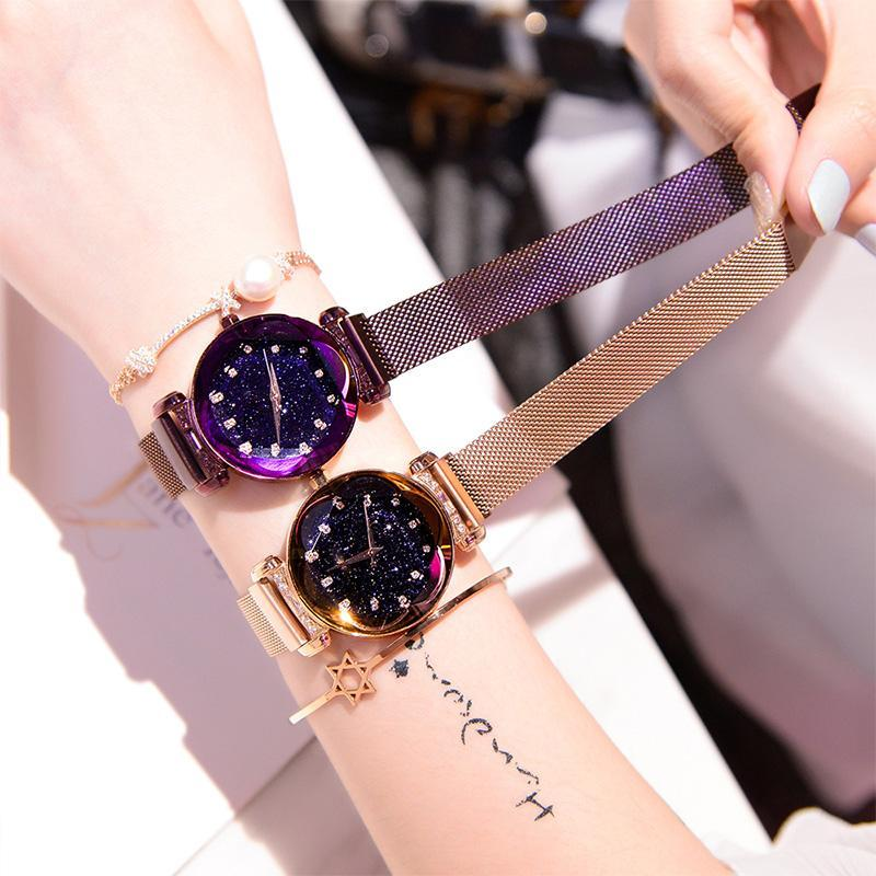2018 NEW Magnetic Watchband Engraved Women Watches