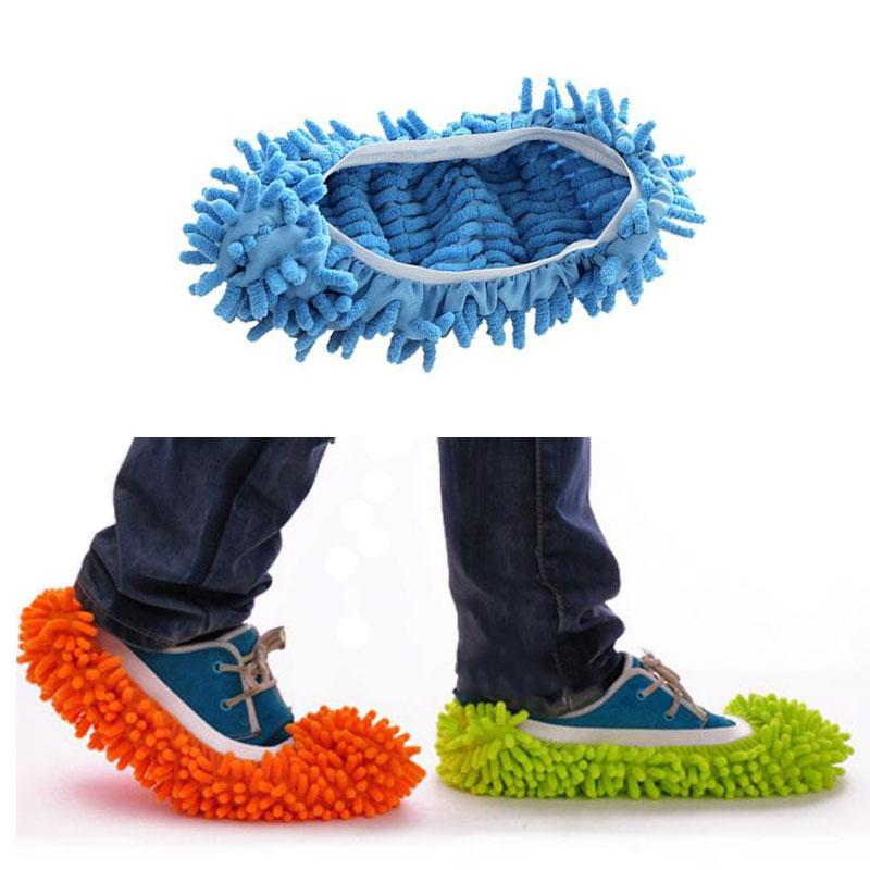 Elastic Soft Microfiber Washable Reusable Dust Mop Slipper Shoe Cover
