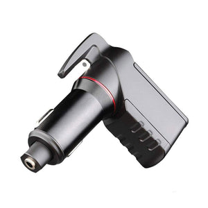 2 Pcs Dual USB Car Charger with Safety Hammer and Seat Belt Cutter