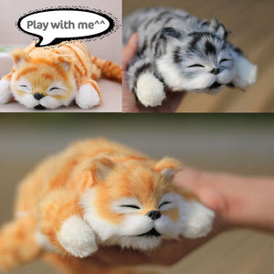 30cm Battery Powered Electric Funny Laughing Rolling Stuffed Cat Doll