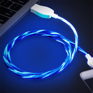 1m LED Visible Micro USB Charging Cable for Apple Samsung