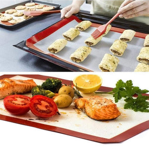 BREEZYLIVE 42×29.5 cm Food Safe Non-Stick Silicone Baking Mats Liners