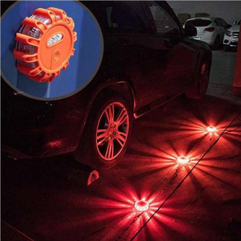 Magnetic LED Flashing Road Safety Flare Emergency Disc