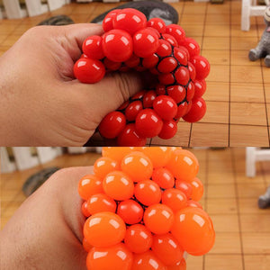 6cm Tear-Resistant Non-Toxic Mesh Squishy Stress Relief Squeezing Balls