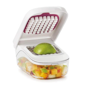 BREEZYLIVE Onion Tomato Vegetable Chopper Grater with Easy Pour Opening
