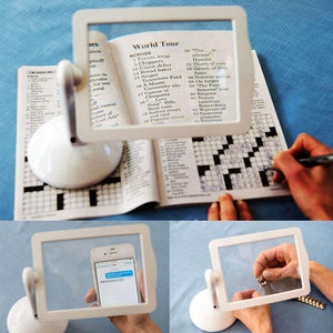 360 Rotating Free-standing 3X Magnifier with LED Light