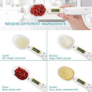 BREEZYLIVE 500g/0.1g Portable LCD Digital Kitchen Food Scale Measuring Spoon
