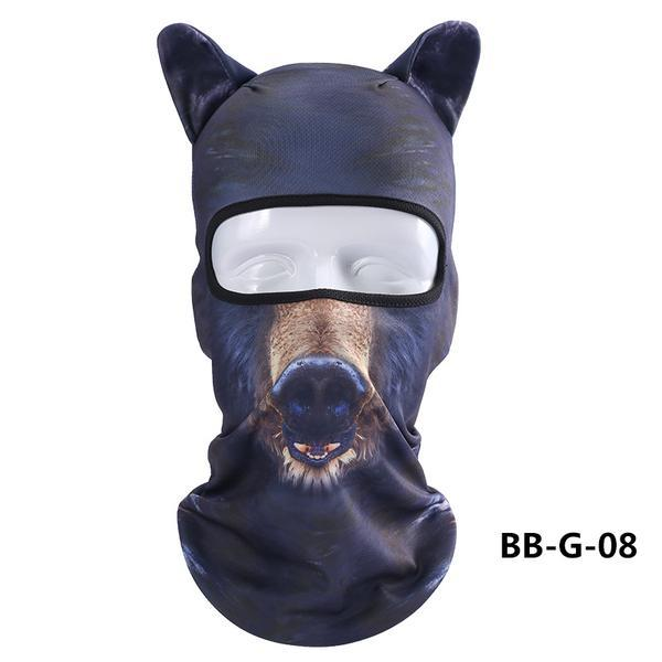 3D Animal Headgear Cycling Bicycle Skiing Full Face Mask