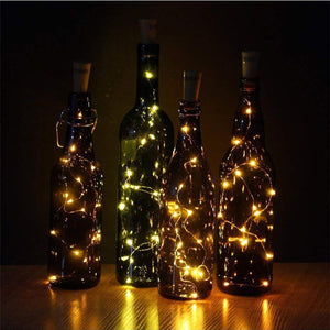 10pcs LED Cork Shaped Copper Wire Fairy String Lights for Wine Bottle