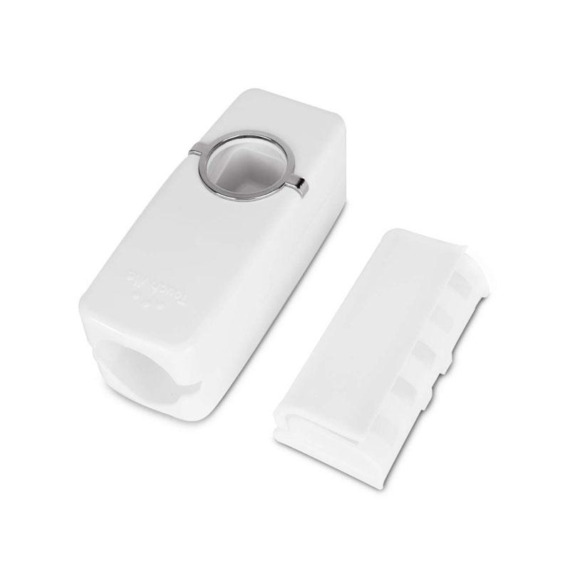 Automatic Toothpaste Dispenser and Toothbrush Holder with Dustproof Cover
