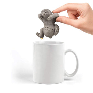 BREEZYLIVE Cute Hanging Lazy Sloth Reusable Heatproof Tea Infuser