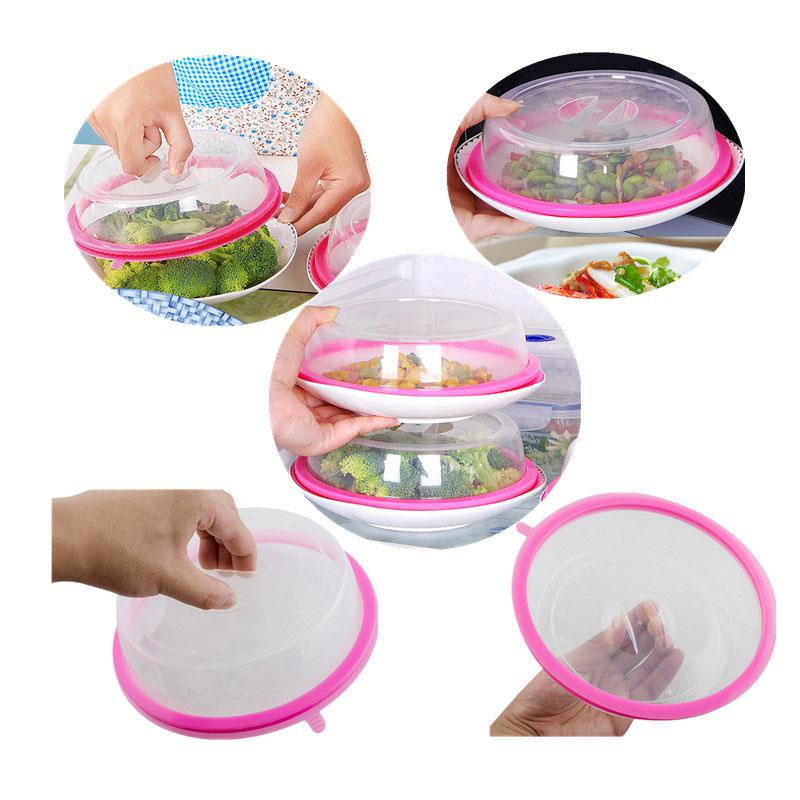 BREEZYLIVE 3 Pcs Airtight Microwave Plate Cover with Steam Vent