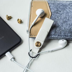 Faux Leather Magnetic Headphone Cable Management Clips