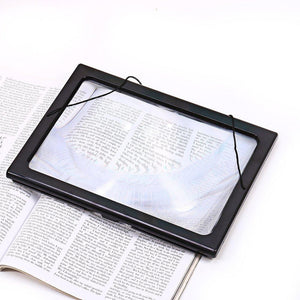3X Magnification Hands-Free A4 Full Page Magnifier with 4 LEDs