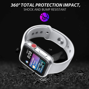 FREEDOM APPLE WATCH SCREEN PROTECTOR TPU ALL-AROUND PROTECTIVE CASE ADJUSTABLE SERIES 1,2,3,4