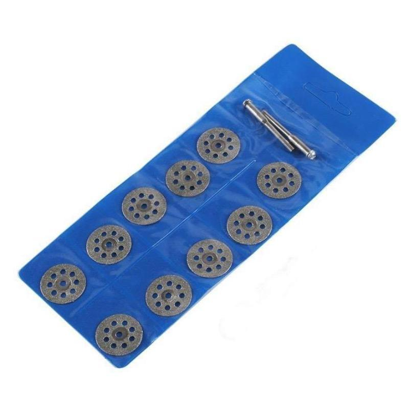 10 Pcs  Cutting Discs Rotary Premium Diamond Saw Blades Set