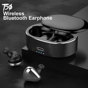 【50% OFF 】T50 Wireless Automatic Durable Touch Control Bluetooth Earphone