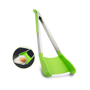 BREEZYLIVE 2 in 1 Non-stick Kitchen Spatula Tong for Cooking BBQ