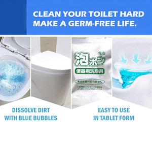 4 Pcs Flushable Toilet Bubble Foaming Cleaner Ccleaning Gel