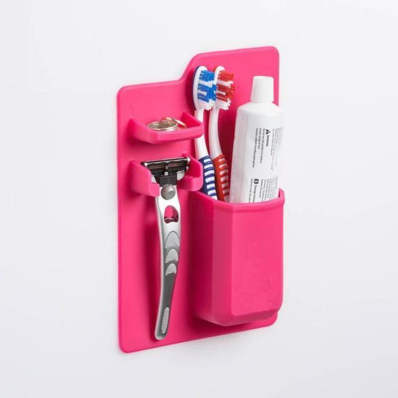 Mighty Silicone Toothpaste Toothbrush Holder Razor Storage Set