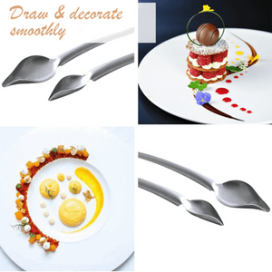 Stainless Steel Precision Culinary Drawing Spoon for Decorating Plates