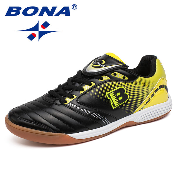 BONA New Typical Style Men Soccer Shoes Indoor Professional Cow Muscle Men Football Shoes Action Leather Fast Free Shipping - Hobbyvillage