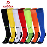 Etto Quality Thick Bottom Anti-slip Soccer Socks Men Women Cotton Absorb Sweat Long Football Socks Sports Knee Tube Sox HEQ007 - Hobbyvillage