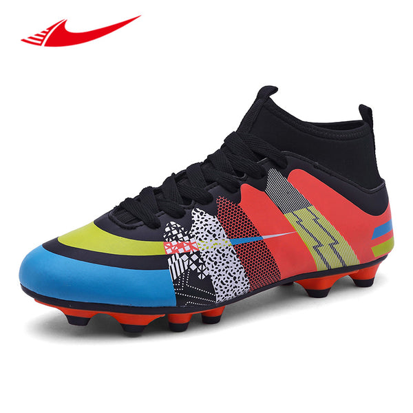 6b31aef08b9 Beita Men Soccer Shoes Long Spikes Lawn Trainers Sport Cleat Football Shoes  Non-Slip Men ...