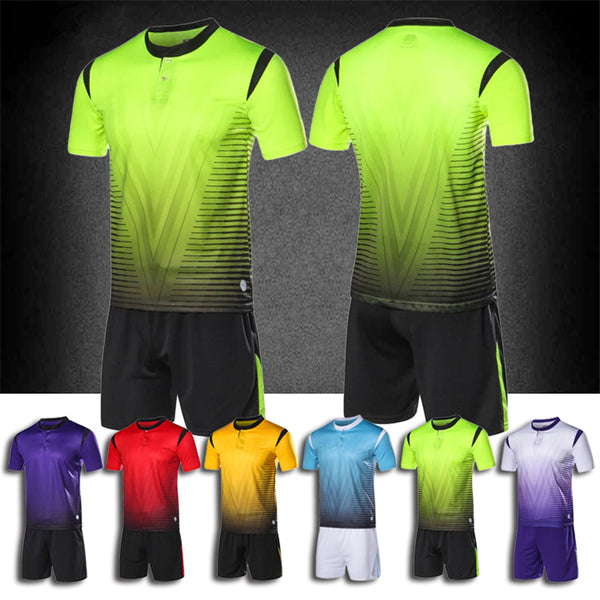 365495cde42 Football jerseys 2017 new kids men blank soccer jerseys set button football  training jerseys suits boys sports football uniforms