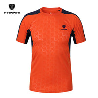 FANNAI Brand New Arrival 2017 men Designer soccer jerseys T Shirt sports Quick Dry Slim Fit Breathabl shirts Tops & Tees M_XXXL - Hobbyvillage