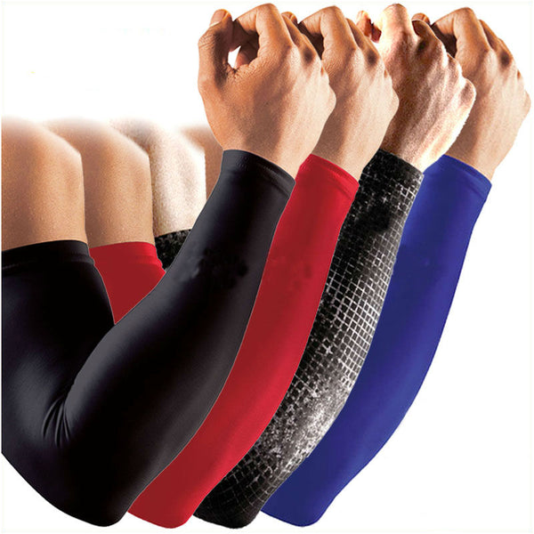 2pc/Set Basketball Elbow Arm Sleeves Brace Lengthen Compression Armguards Sports Running Cycling Sleeves Arm Warmers Protectors - Hobbyvillage
