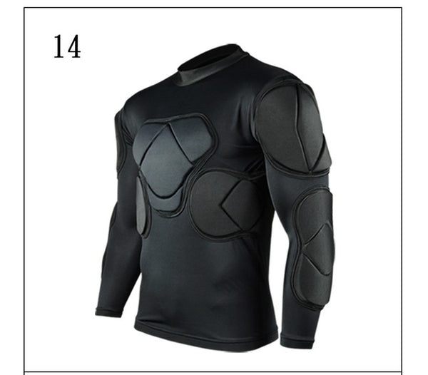 Survetement football 2018 American Football Jerseys sports safety protection thicken soccer goalkeeper jersey elbow shirts vest - Hobbyvillage