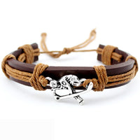 Volleyball Football Soccer Softball Lacrosse Hockey Basketball Calisthenics Charm Leather Bracelets Women Men Unisex Jewelry - Hobbyvillage