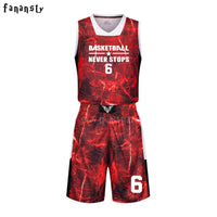 High quality basketball jerseys Boys breathable custom basketball uniforms cheap college basketball suits DIY set 2017 new - Hobbyvillage