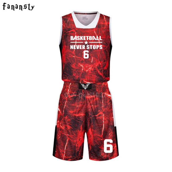 cf173ce3d High quality basketball jerseys Boys breathable custom basketball uniforms  cheap college basketball suits DIY set 2017 new